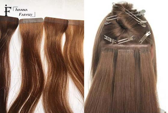 A ribbon or capsular hair extension