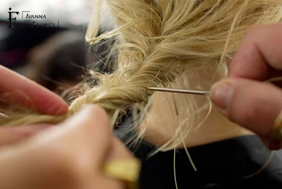 Photo sewing on hair