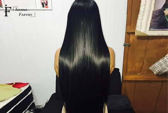 Beautiful straight hair