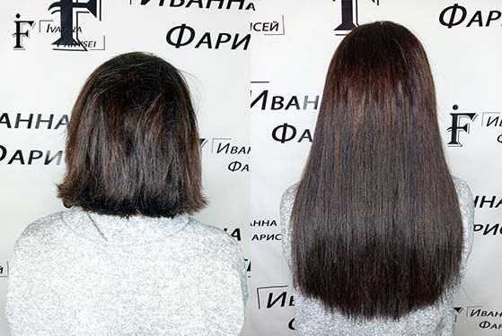 The process of hair extensions for short hair