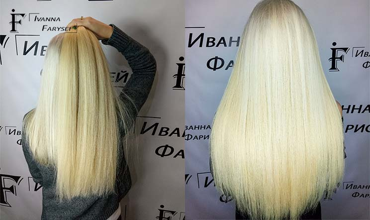 Capsule extensions, beautiful blonde
