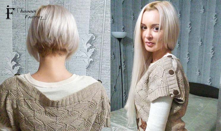 Make Short Hair Long With Bonded Extensions Ivanna Farysei