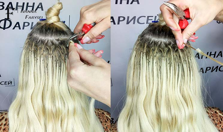 Safe removal the extension hair affordable price