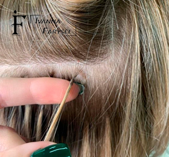 Hair extensions in the microcapsules of the photo – volumetric hair for a couple of hours